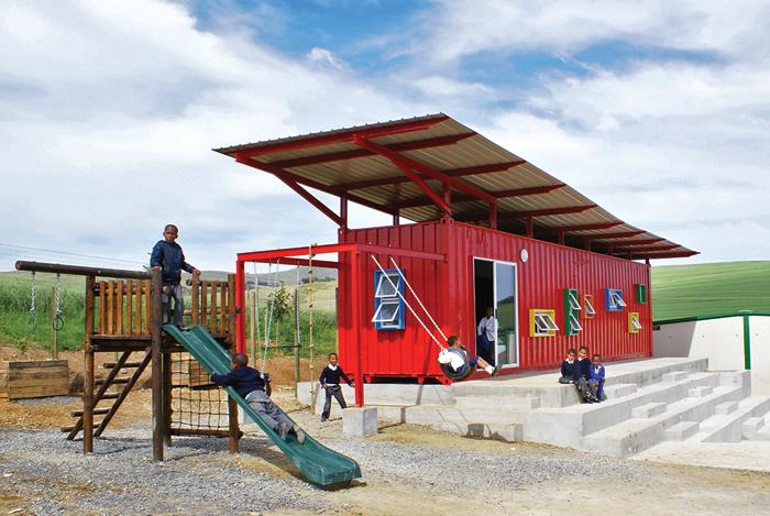 Visserhok Container Classroom
