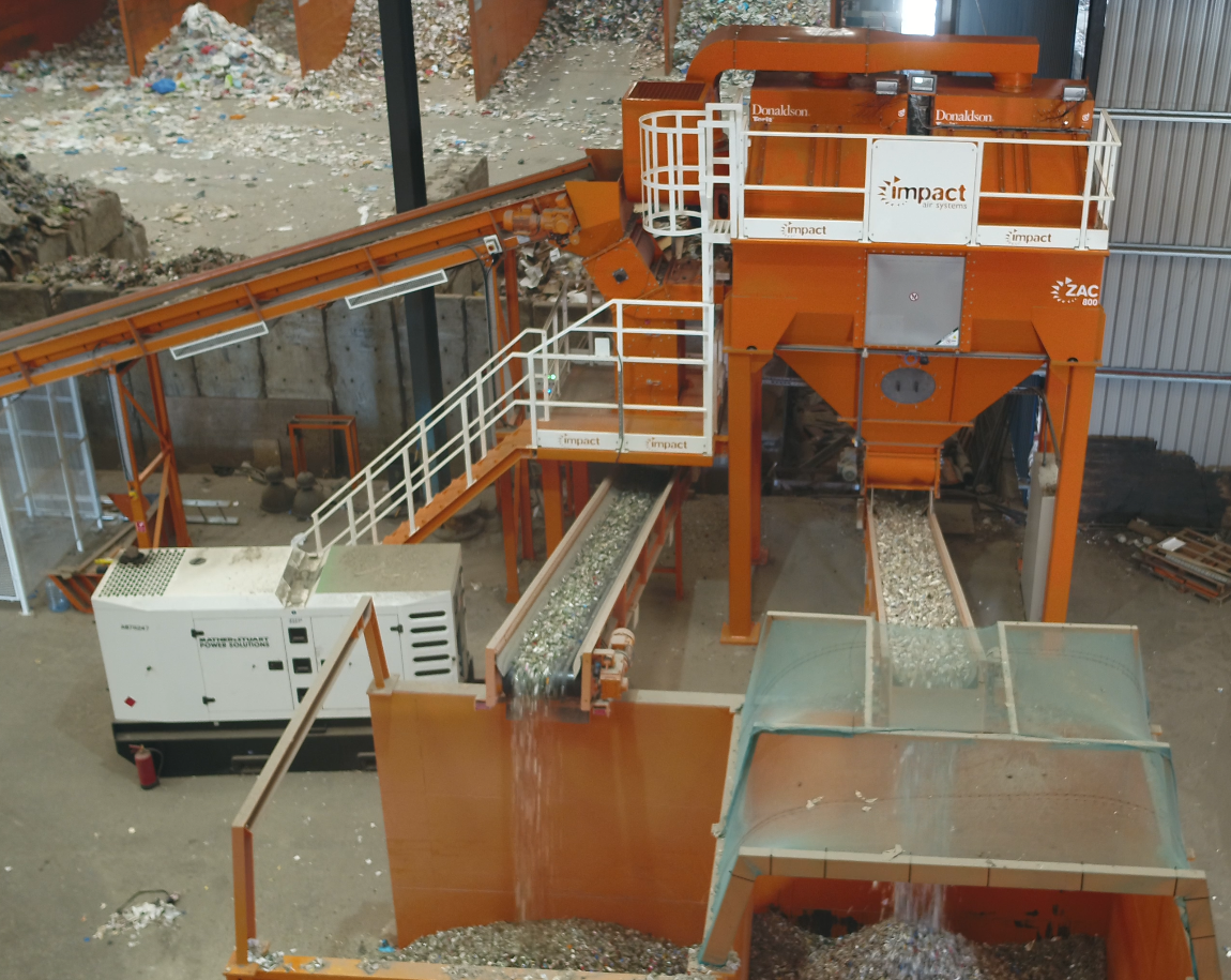 P&D Materials Recovery chooses Impact Air Systems' material recovery solution