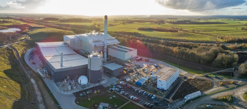 Amey energy-from-waste plant begins operations in North Yorkshire