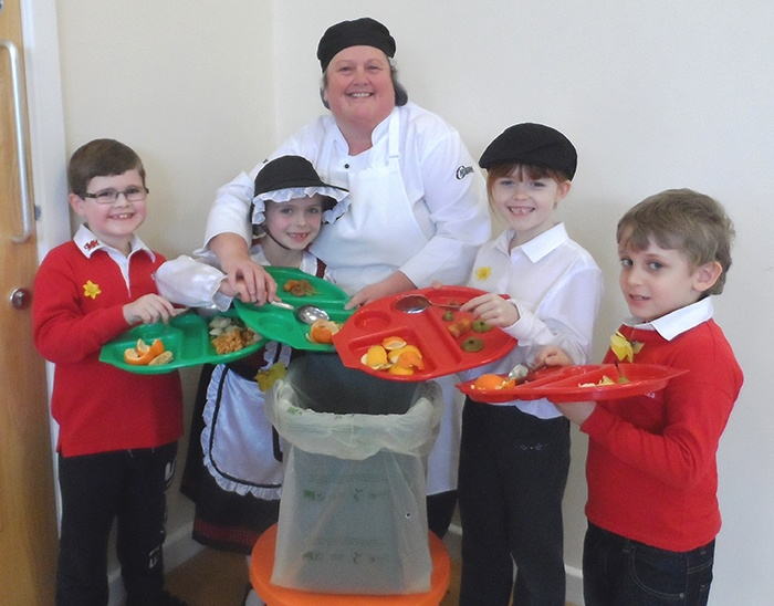Libanus Primary School in Blackwood is one of the schools using Cromwell Polythene's compostable kitchen liners