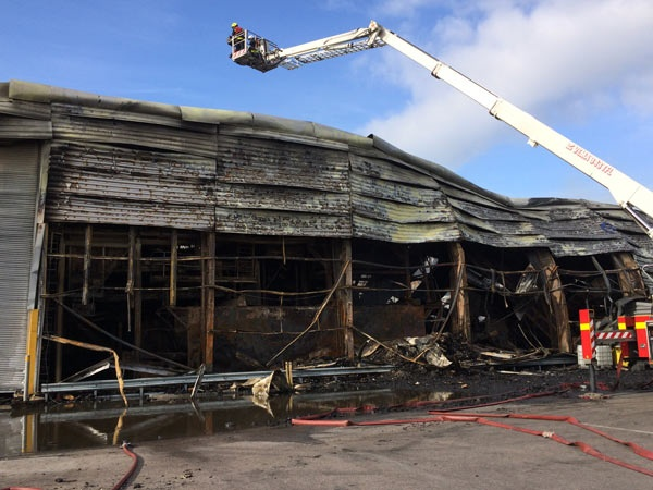 Exeter waste site heavily damaged in 'devastating' fire