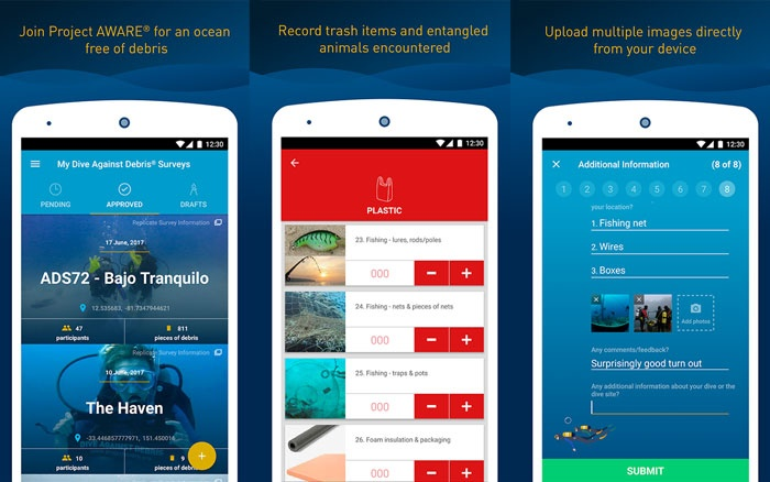 New app enables divers to chart marine litter levels
