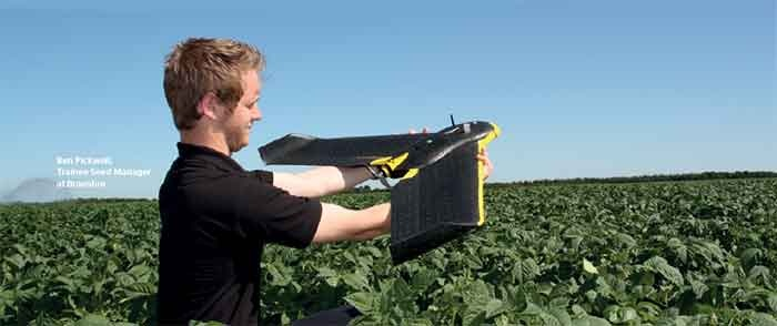 Drones in agricultural waste