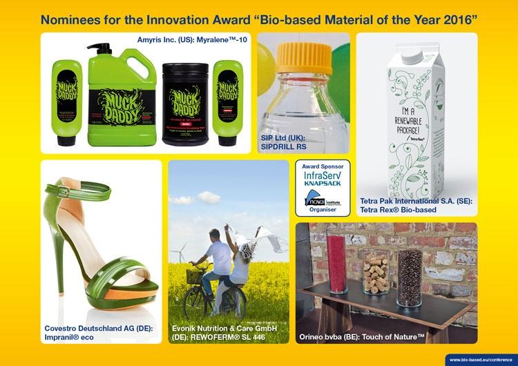Finalists named for bio-based innovation award
