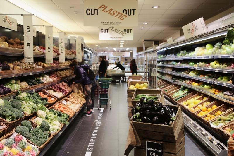 London supermarket launches plastic-free zones