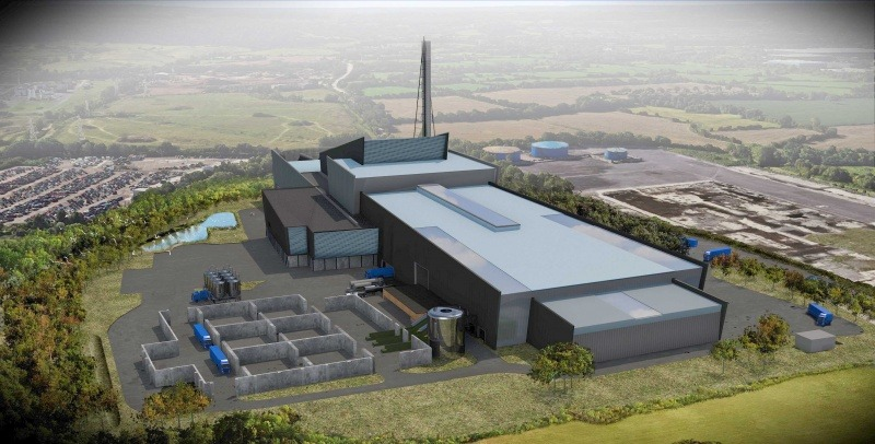 An artist's impression of the new plastics facility