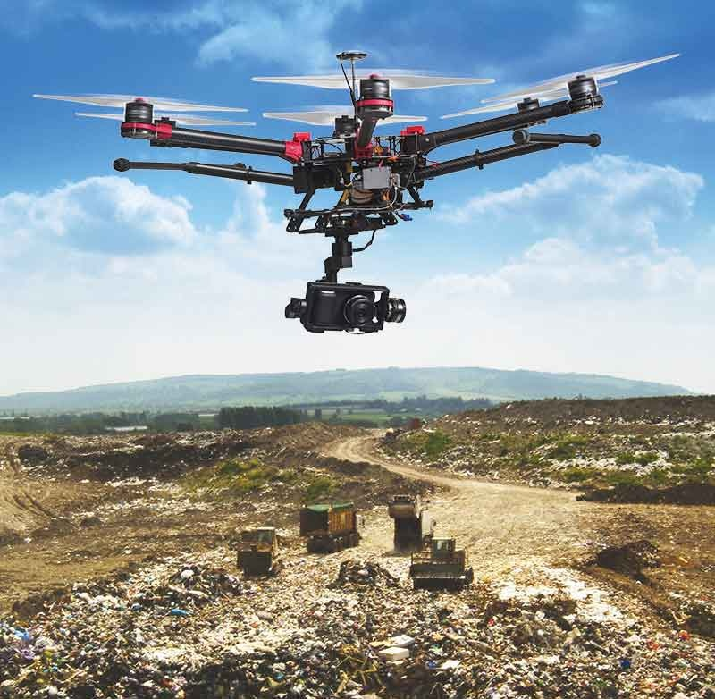 Drones in waste management