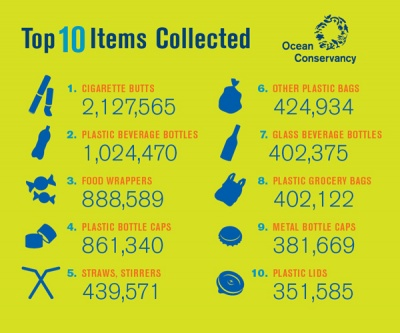 International Coastal Cleanup highlights plastic issue