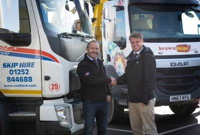 Rob Collard (founder of Collard Group) with Adam Murnieks (Managing Director of Raymond Brown Waste Solutions)