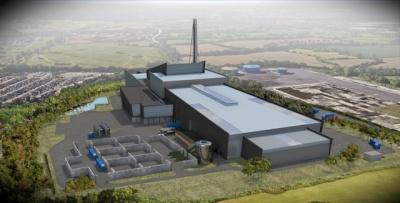 An artist's impression of the Avonmouth Resource Recovery Centre