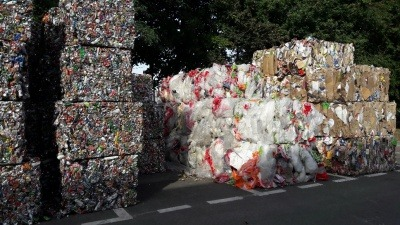 Bales of waste