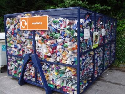 beverage carton recycling bank