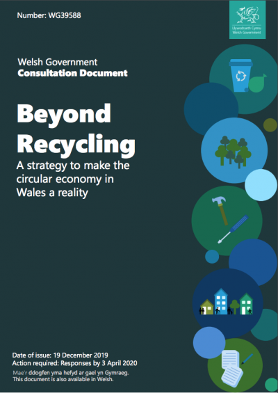 A screenshot from the 'Beyond Recycling' consultation document
