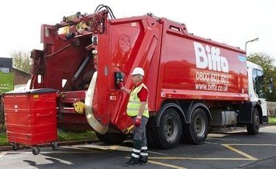 A Biffa collection truck