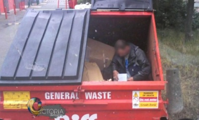 Three people a week found sleeping in Biffa bins
