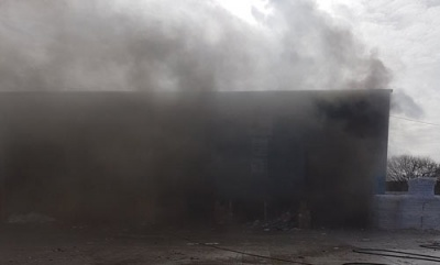 Large fire breaks out at DS Smith Willenhall