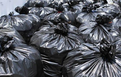 An image of black bin bags