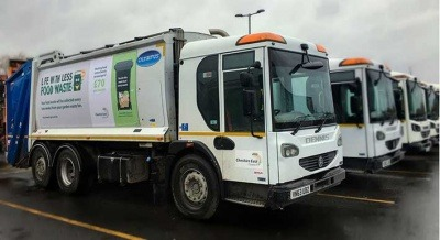 Cheshire East Council's refuse collection vehicles
