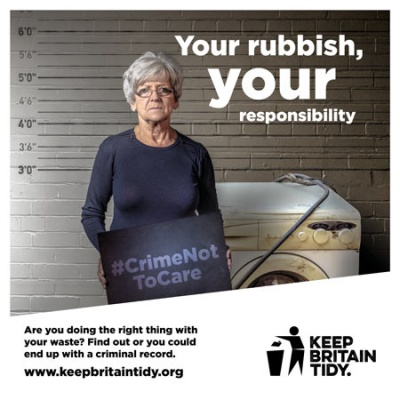 KBT campaign tells householders it's a #CrimeNotToCare about fly-tipping
