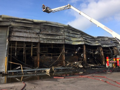 Thousands lose power as another blaze takes over Glasgow scrapyard