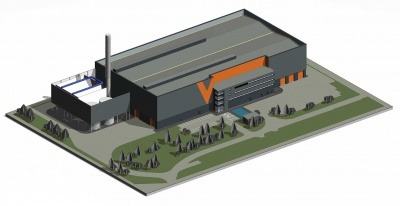 A 3D image of the Drakelow plant