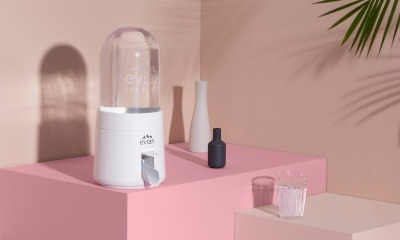 Evian's new 'bubble' reduces the plastic and carbon footprint of its natural mineral water.