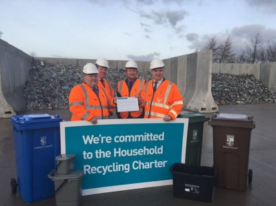 Falkirk first council to sign up to Scottish Recycling Charter