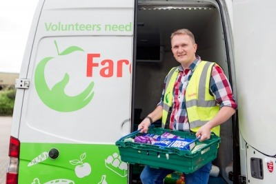FareShare volunteer and van