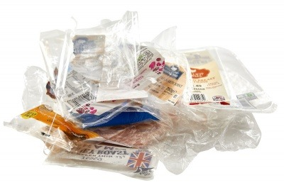 A pile of flexible plastics