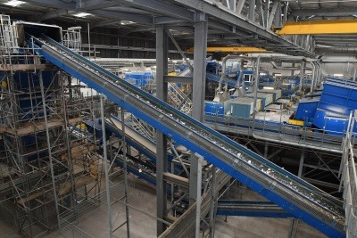 Conveyor belts in GRREC recycling facility
