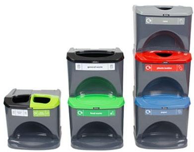 Glasdon Nexus Stack recycling bins