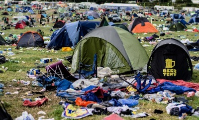 Discarded Glastonbury tents to be donated to refugees