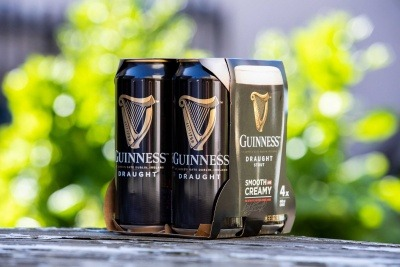 The new cardboard pack for Guinness