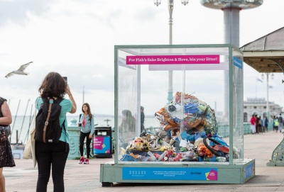 Beach litterers targeted with new campaign to clean up Brighton and Hove
