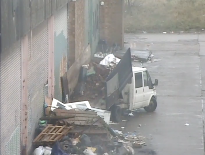 CCTV footage of McDonagh dumping a tipper-truck load of waste