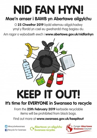 Swansea's 'Keep it out' campaign poster