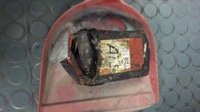 Li battery in waste