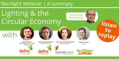 An image of panel discussion for Recolight Webinar