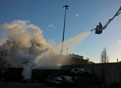 EMR site waste fire disrupts New Year traffic