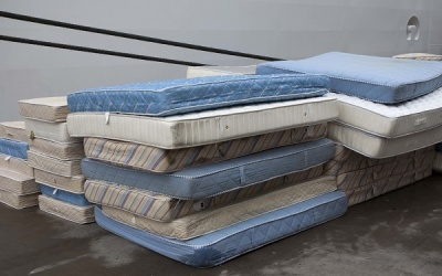 A pile of old mattresses