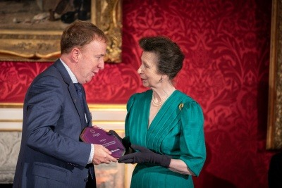Princess Anne presenting Veolia with award for 'Respect at Work' training