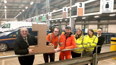Staff at Peterborough Household Recycling Centre