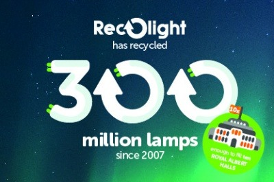 Recolight passes 300m lamp recycling landmark