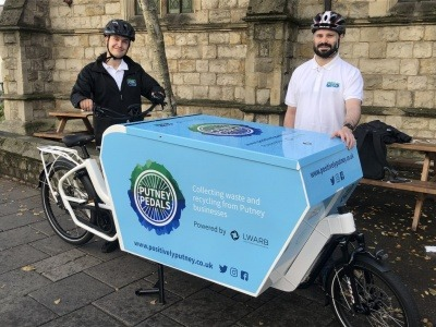 Two operatives from Putney Pedals with an e-bike