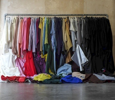 An image of a rail of clothing