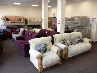 Sofas and chairs at the Re-use centre in Essex