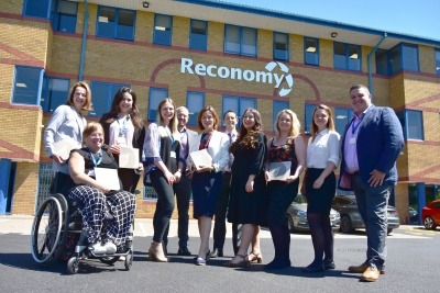 Telford MP Lucy Allan with Reconomy employees at the launch of the Sustainability Report