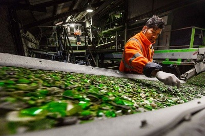 Renewi glass recycling process