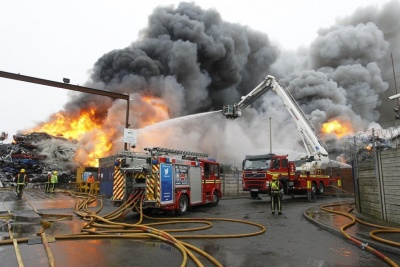 100 firefighters needed at Birmingham scrap fire