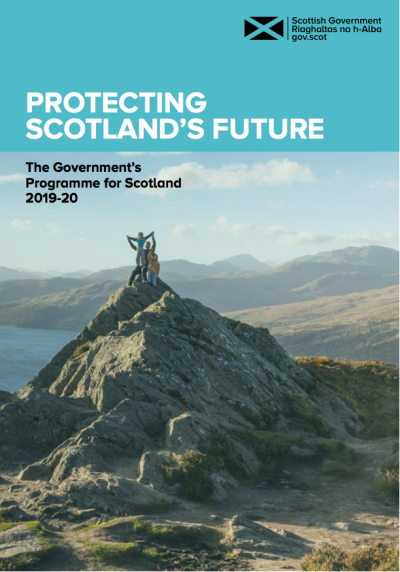 The front page of Scotland's Programme for Government